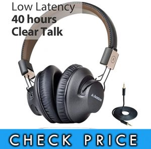 Avantree Audition Pro 40 hr Bluetooth Over Ear Headset with